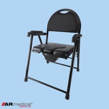 Krzesło toaletowe tapicerowane składane