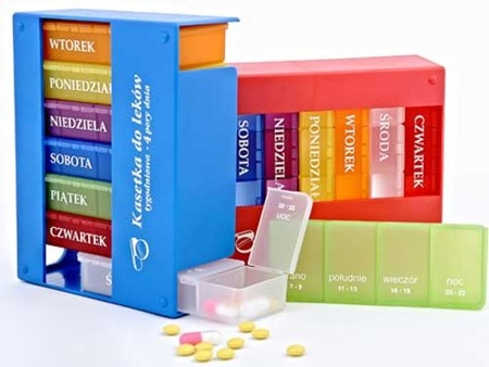 kasetka na leki - Elena - 4 pory dnia 7 dni
